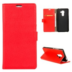 Moonmini Case for BlackBerry DTEK60 Case Litchi Grain Leather Case Flip Stand Cover - Red - intl