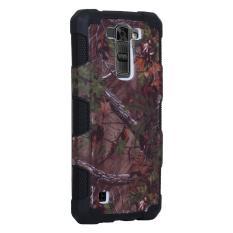 Moonmini Case untuk Lg K7 Pola Hutan Hibrida Combo Shockproof Kembali Case-hitam-Intl