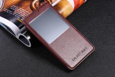 Moonmini Kulit Flip Penutup untuk Samsung Galaxy Note 4 (Coklat)