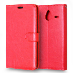 Moonmini PU Leather Flip Stand Cover for Microsoft Lumia 640 XL (Red)