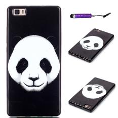 Moonmini TPU belakang kasus telepon untuk Huawei Ascend P8 Lite (Hitam/Putih)
