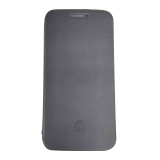 Moto E3 Power Flip Cover - Hitam