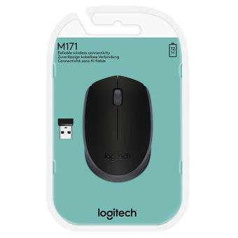 Mouse Logitech M171 Black Grey Wireless OEM - Hitam