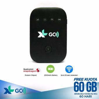 MoviMax MV003 Modem 4G MiFi Bundling XL Go 60GB/30Hari-Unlock-Black