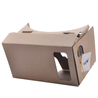 "NEJE SZ004-10 DIY Google Cardboard Virtual Reality 3D Glasses w/NFC for 4~5.0"" Cellphones - Brown"