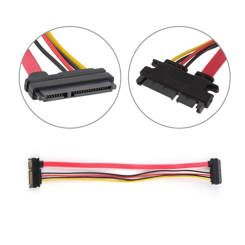 ... New 22 Pin 7 + 15 Male to Female Serial SATA Data Power ExtensionCable 30cm ...