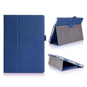 New Surface Pro 2017 Case. PU Leather Case With Stand FunctionforThe New Surface Pro 2017 / Microsoft Surface Pro 4 (Blue) - intl
