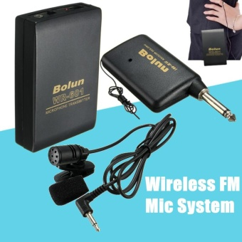 New Wireless FM Transmitter Receiver Lavalier Lapel Clip Microphone Mic System - intl
