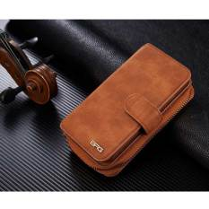 NEW Zipper Leather Cash Multifunction Card Slot Wallet HolsterLeather Case Cover For iPhone 6 6S Plus