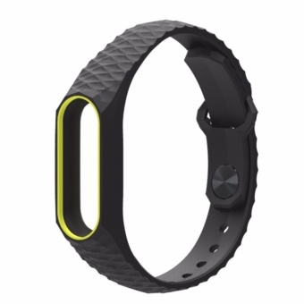 Newest Original Mijobs Colorful Silicone Strap Bracelet DoubleColor for Xiaomi Mi Band 2 Replacement Wristband Accessories - intl