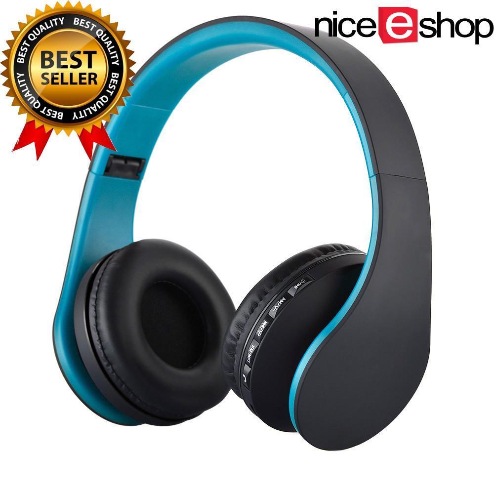 ... niceEshop Bluetooth nirkabel Stereo Headphone ROPS EDR alat pendengar mikrofon MP3 FM headset untuk ponsel pintar ...