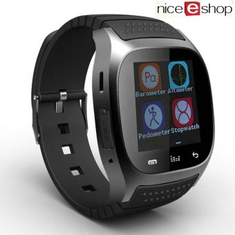 niceEshop Bluetooth Smart Wrist Watch Android Mobile Phone Watch, Black