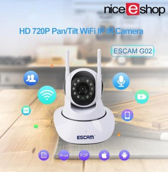 niceEshop Home Security System Wireless Cameras, HD 720P Pan/Tilt IP Camera Day Night Vision P2P WIFI Indoor Infrared Security Surveillance CCTV Mini Wireless Camera - intl