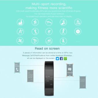 niceEshop Smart gelang Bluetooth 4.0 Tahan Air Krida pelacak Smartband (Biru)- International - 4