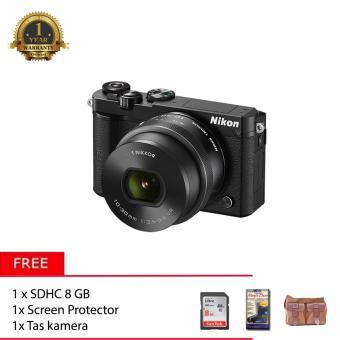 Nikon 1 J5 With 10-30mm (Black) + Memory 8GB + Screen Protector