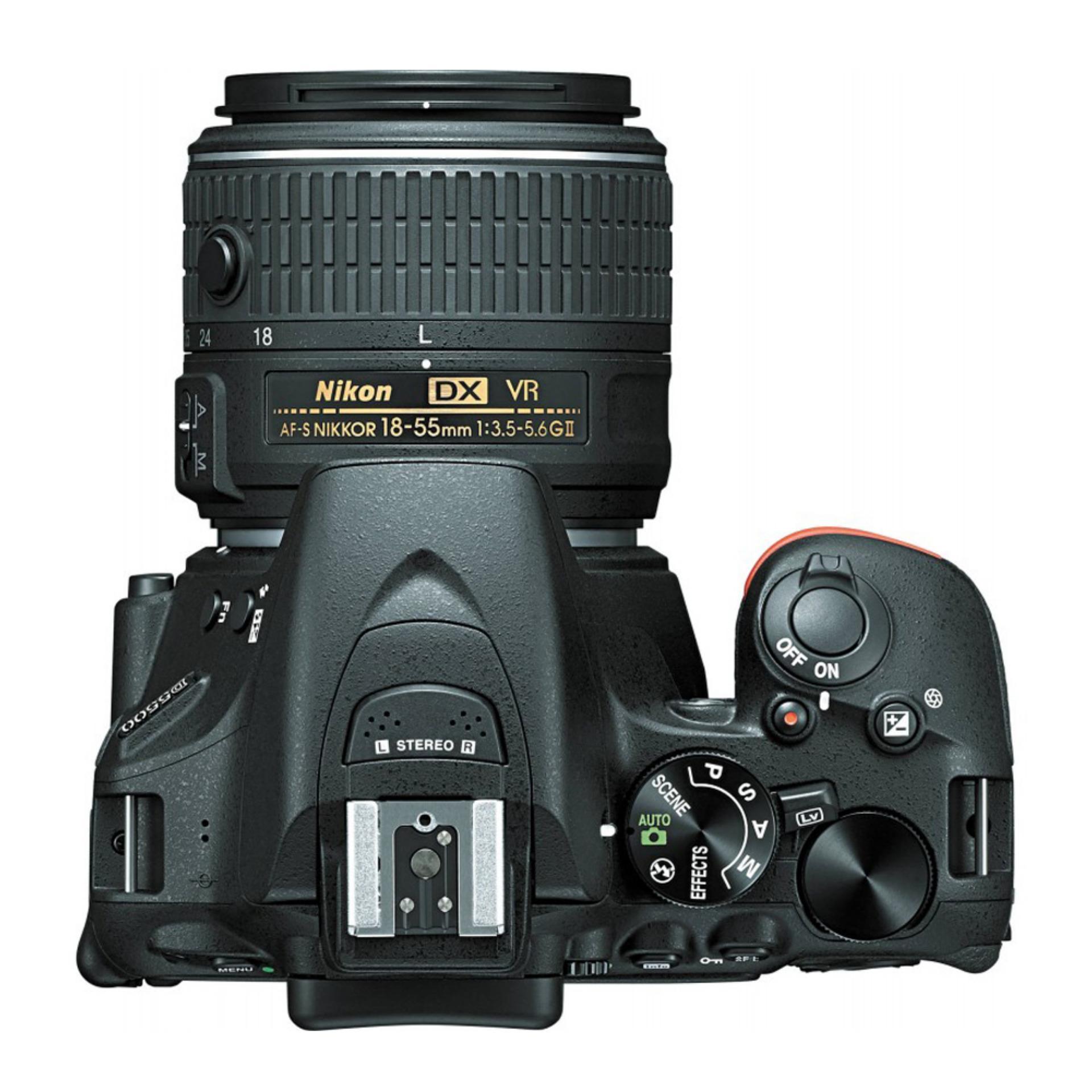 NIKON D5500 AF-S 18-55mm VR II 24.2MP DX-Format CMOS Sensor + SanDisk 8gb + Screen Protector