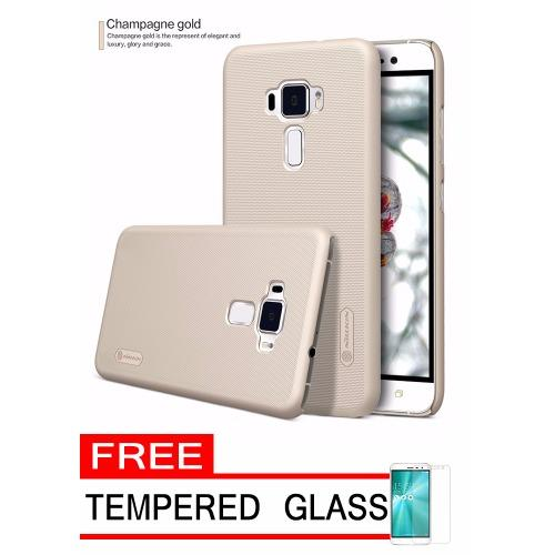Flash Sale Nillkin Frosted Shield Hardcase for Asus Zenfone 3 ZE520KL - Gold +Free Tempered Glass
