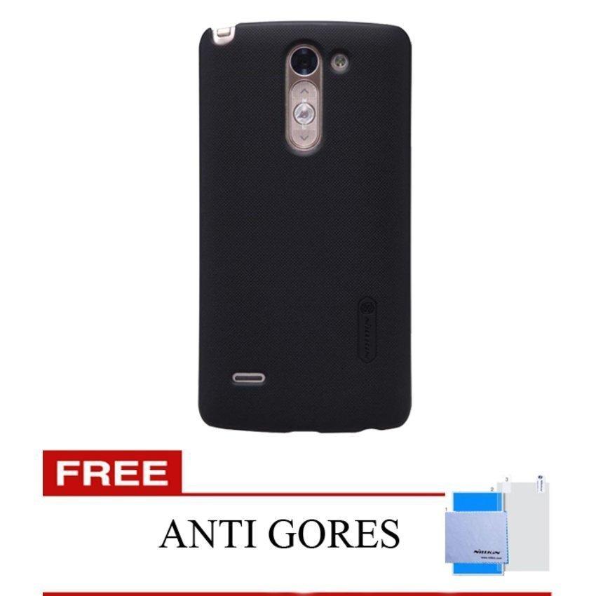 Nillkin Original LG G3 STYLUS Super Hard case Frosted Shield -Hitam + Gratis Anti Gores