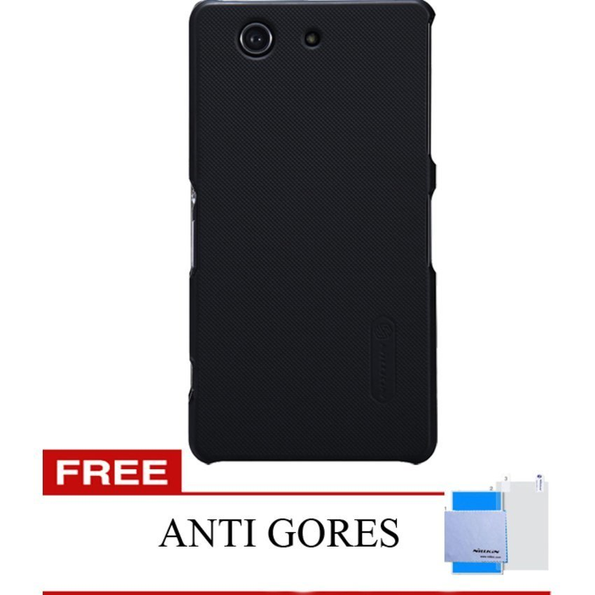 Nillkin Sony XPeria Z3 Compact Super Frosted Sheild - Hitam +Gratis ScreenGuard .