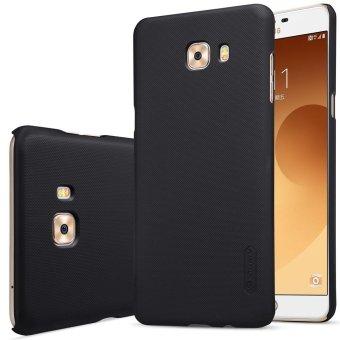 NILLKIN Super Frosted perisai keras Phone Case untuk Samsung Galaxy C9 Pro + Pelindung Layar - hitam