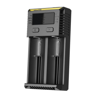 Nitecore Intellicharger Universal Battery Charger 2 Slot for Li-ion and NiMH - New i2 - Hitam
