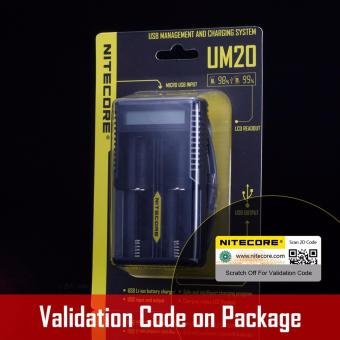 NITECORE Universal Battery Charger Dual Slot for Li-ion with High Definition LCD - UM20 - Hitam - 4