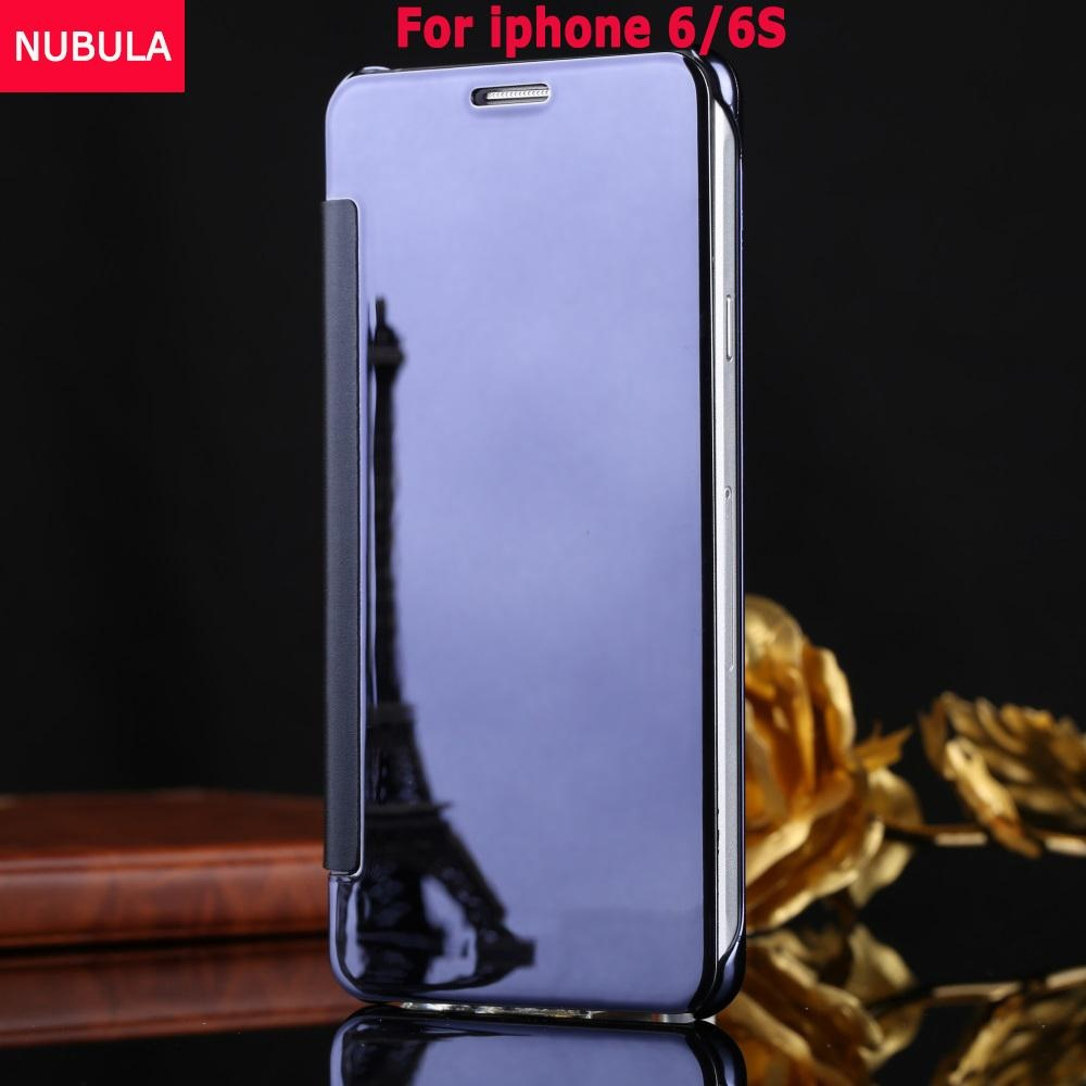 ... NUBULA New Fashion 360 Degree Luxury Mirror Clamshell Hard Shell Flip Wallet Case For iphone 6 ...