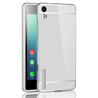 OEM Aluminum Metal Case For Lenovo Vibe Shot Z90-7 with HD ScreenProtector -Silver(Red) - intl