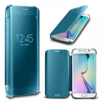OEM Case Samsung Galaxy A7 2017 Flipcase Flip Mirror Cover S ViewTransparan Auto Lock Casing Hp