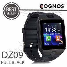 Onix Cognos ZGPAX Smartwatch U9 DZ09 - GSM Sim Card - Strap Karet - FULL Hitam