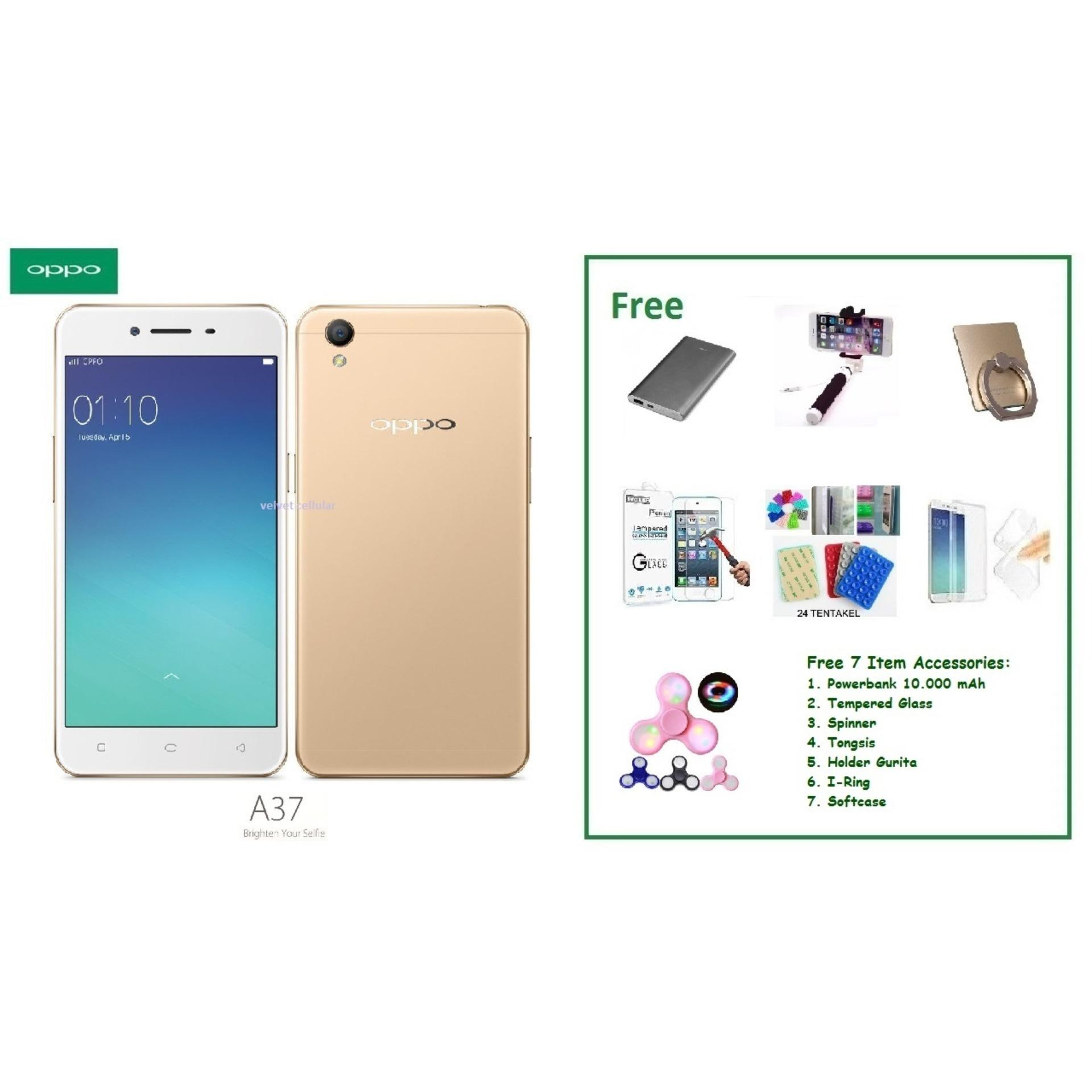 OPPO A37 [2/16GB] + Free 7 Item Accessories