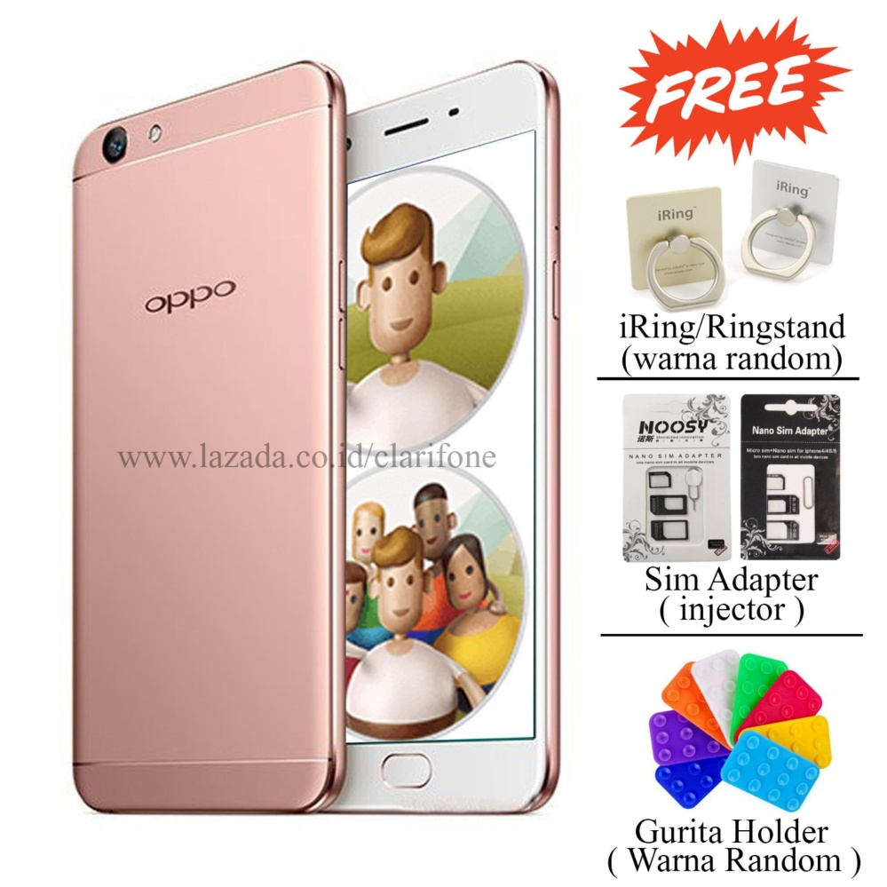 Cheap online Oppo F3 - Selfie Expert - Dual Front Camera - Ram 4GB - Rom 64GB - Rose Gold