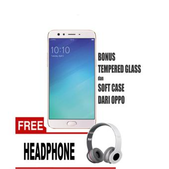 OPPO F3 Smartphone (64GB/ RAM 4GB) - Gold Free Headphone