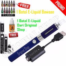 Original Evod Rokok Elektrik 1100mAh Include Charger & E-Liquid + Free 1 Botol E-Liquid - Biru