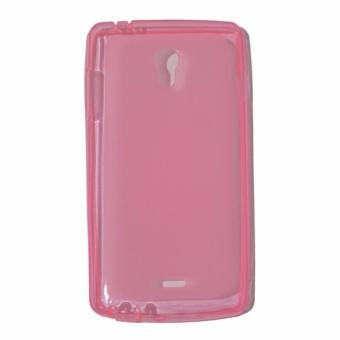 Orion Oppo Joy R1001 Ultrathin Oppo R1001 Softshell Oppo Joy / Softcase Oppo Joy R1001 / Case Oppo Joy R1001 / Casing Oppo Joy R1001 - Pink Transparan
