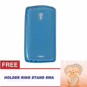 Orion Oppo Joy R1001 Ultrathin Oppo R1001 Softshell Oppo Joy /Softcase Oppo Joy R1001 + Free Ring Stand Motif Swa Random - BiruTransparan