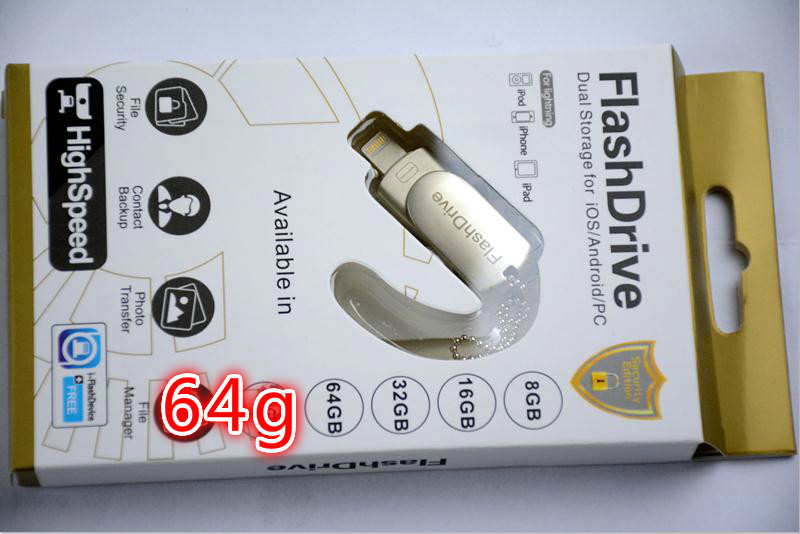 OTG i-flashdrive usb flash drive 64gb Good quality Eshanmu 3 in1pen .