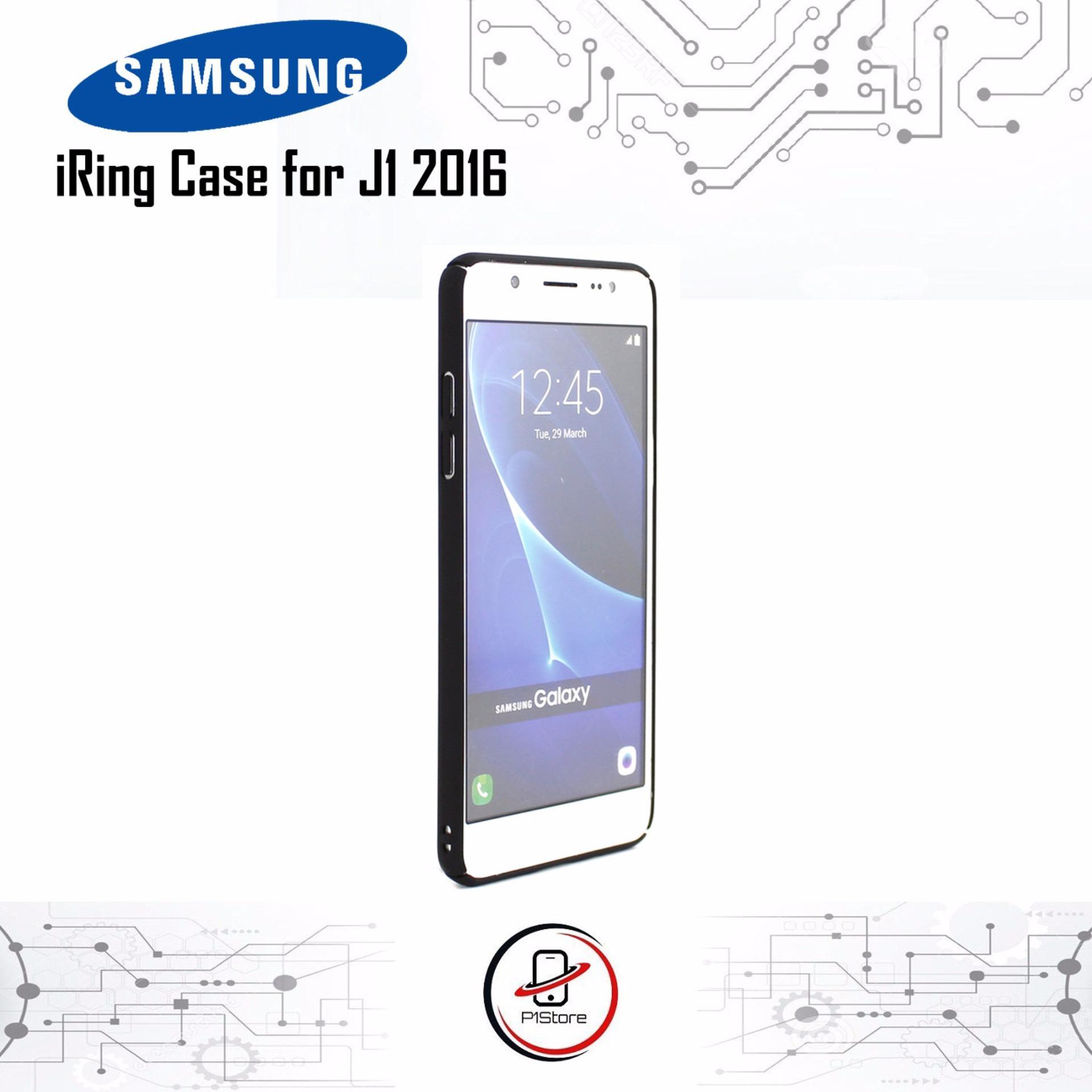 P1 IRing Case Matte Samsung J1 2016 Hardcase Cover Casing .