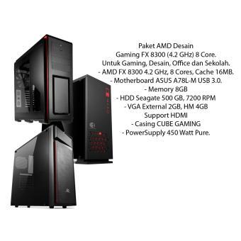 Paket AMD Desain, Gaming FX 8300 (4.2 GHz) 8 Core