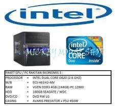 PAKET CPU / PC RAKITAN GAMING EKONOMIS 3 / INTEL G620 (2.6 GHZ)