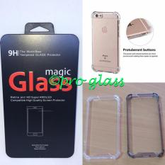 Paket Iphone 6 Plus / 6s Plus Magic Glass Tempered Glass + Acrylic Anticrack Case