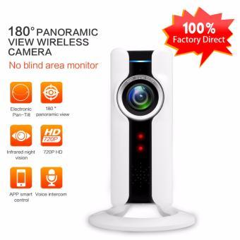 Panorama lensa Fisheye kamera IP WIFI Wireless Mini kamera pengintai 180 derajat Hidden IP WIFI Webcam 720p IP Cam