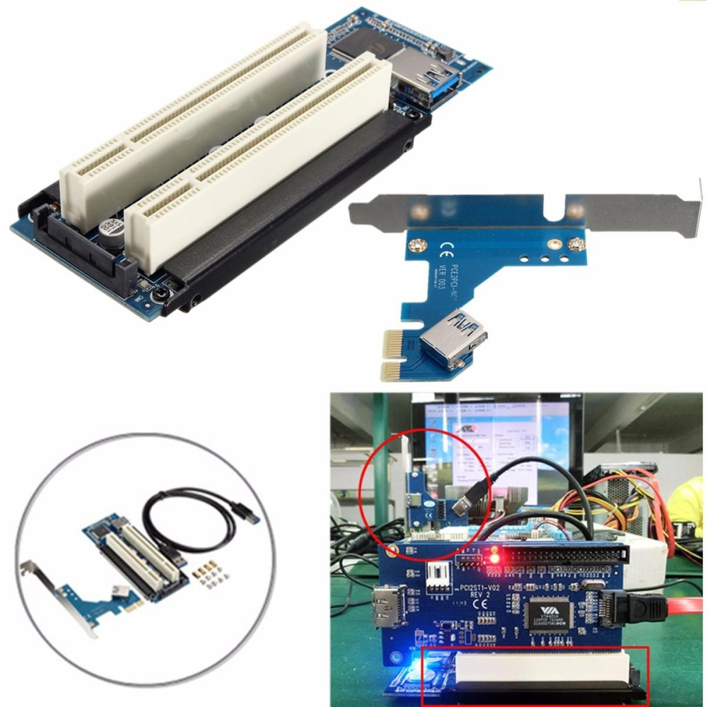 Pelacakan Harga Pci E Express X1 To Dual Riser Extend Adapter 30 Card With Usb Cable