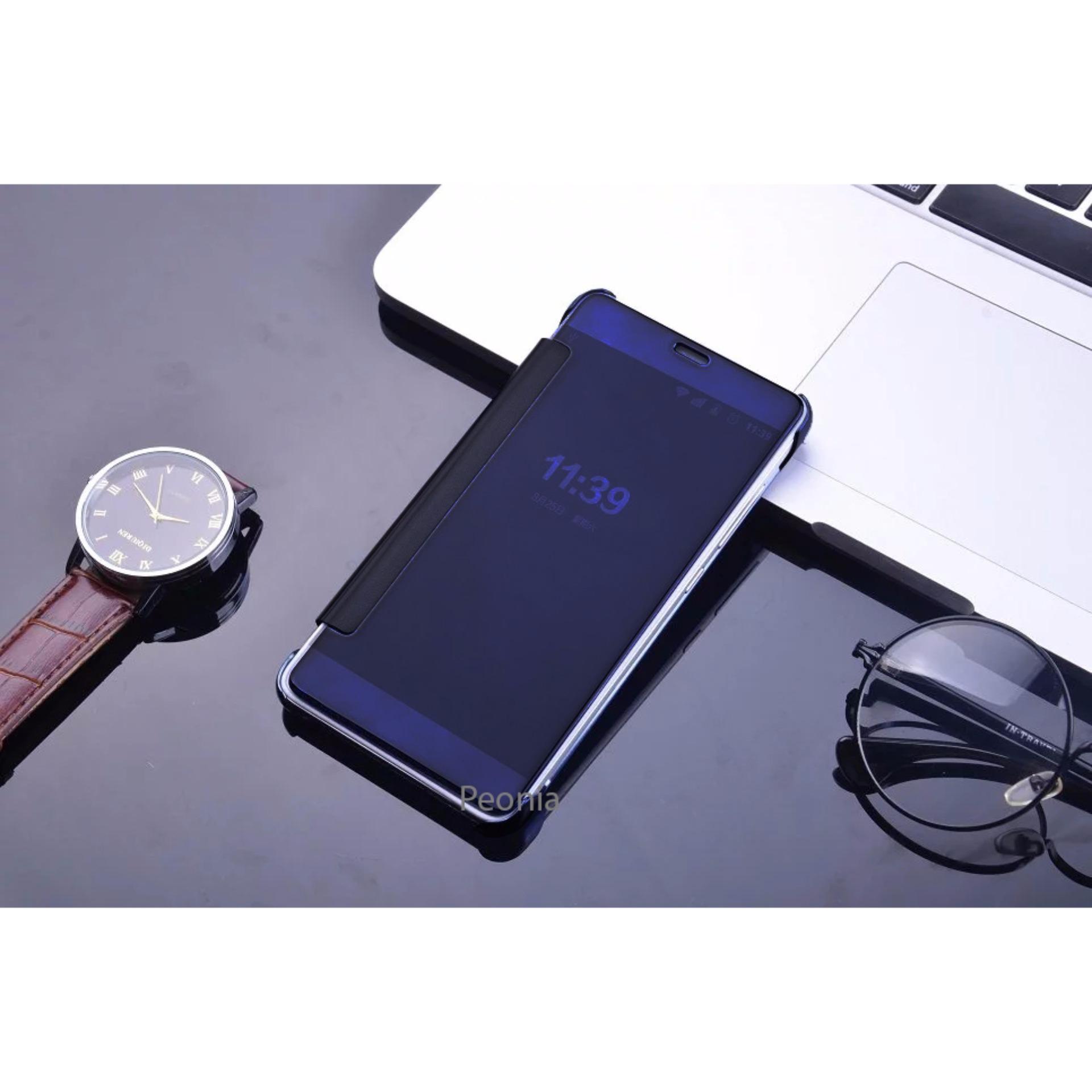 Peonia Mirror Flip Cover Case for Xiaomi Redmi Note 3 / Pro /