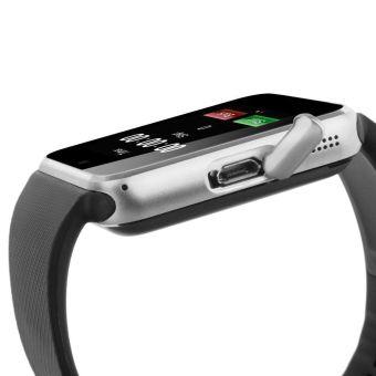 Perhiasan Notifier Sinkronisasi Jam Pintar Dengan Kartu SIM Konektivitas Bluetooth (Perak) - 5