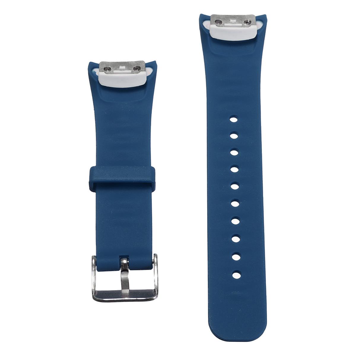 ... Perhiasan pengganti gelang silikon Band tali pengikat untuk SamsungGear Fit 2 SM-R360 Biru Tua ...