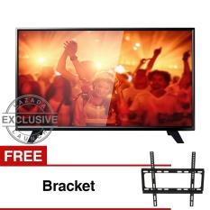 Philips 39 inch LED HD TV - Hitam (Model 39PHA4251S/70) Free Bracket
