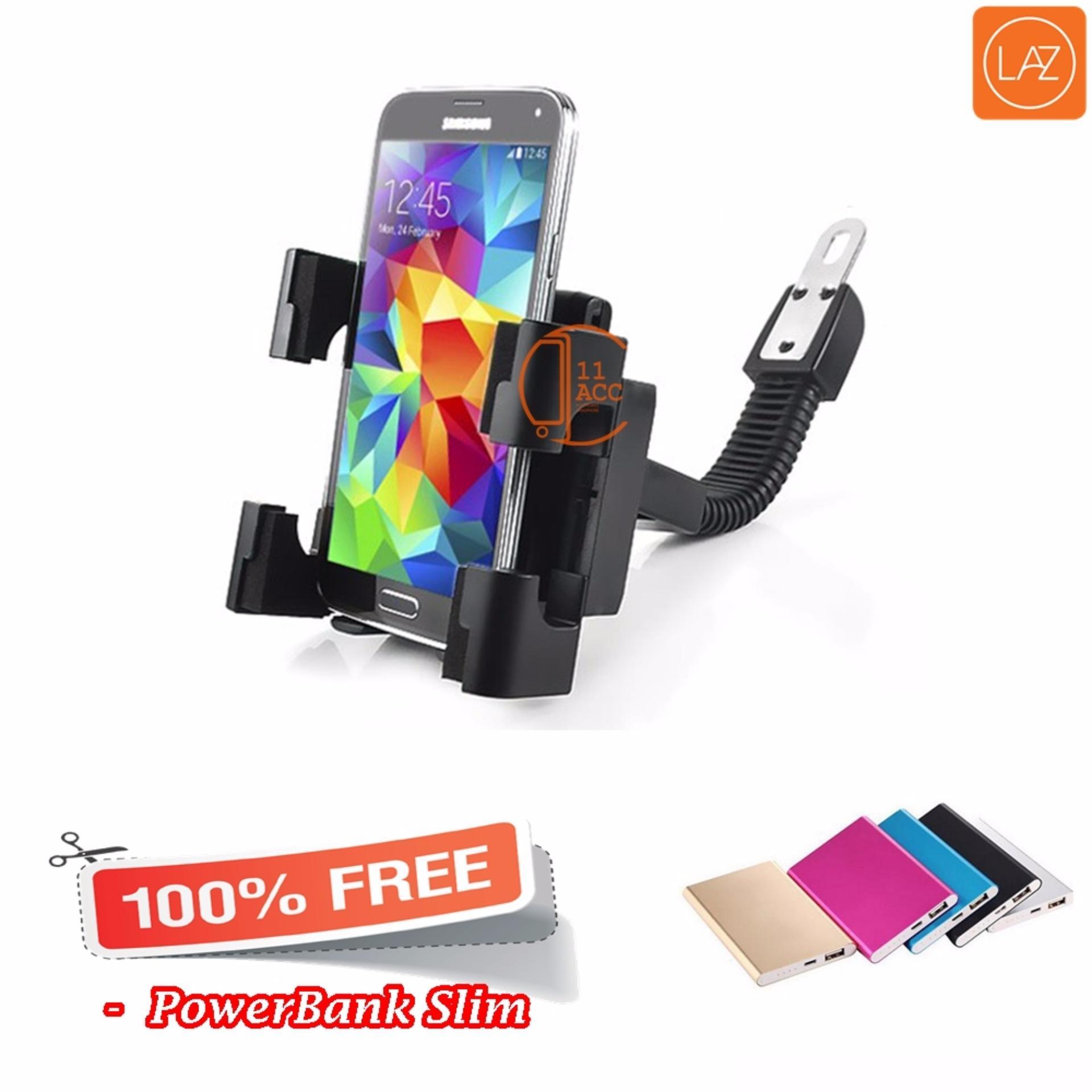 ... Phone Holder Motor dan Sepeda via Setang/Spion Untuk HP / GPS - Hitam + ...