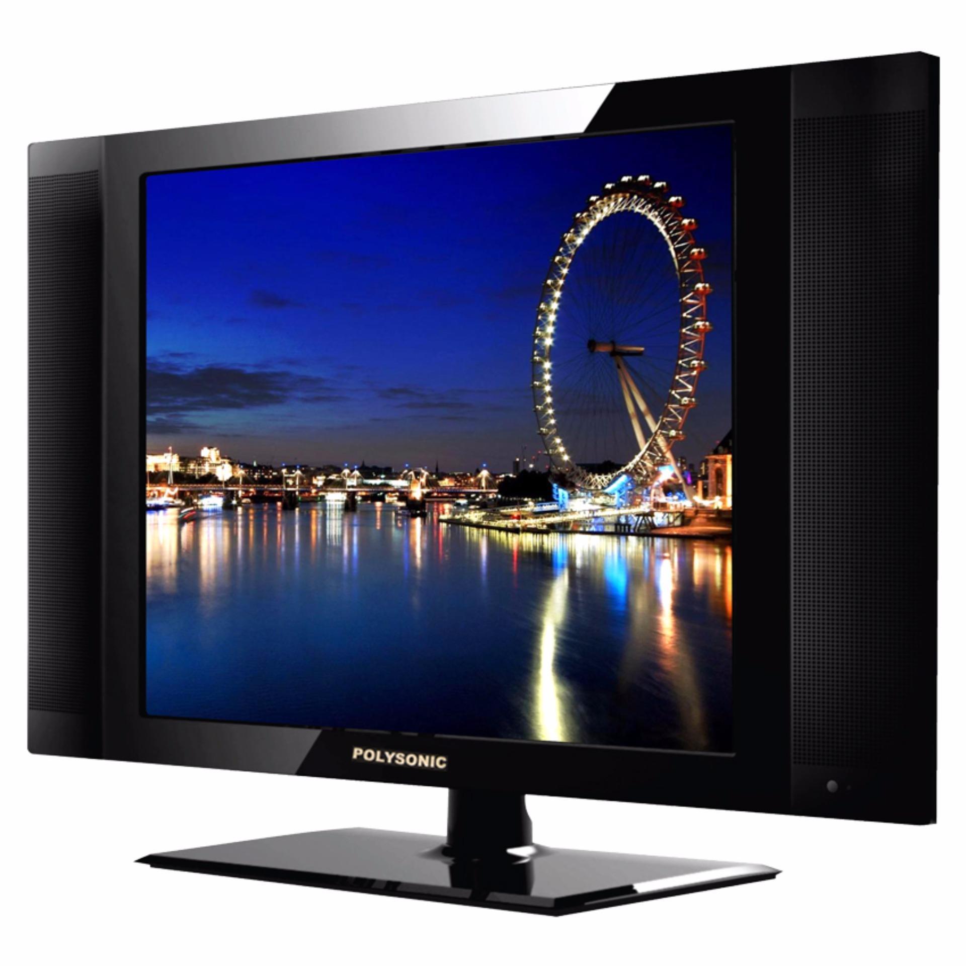 Polysonic LED TV 17 1777 - Hitam
