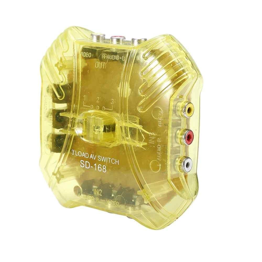 Harga Saya Portable Av Switch 3 Way Audio Video Switcher Coupler Box Selector Boxsplitter Intl